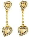 Juvalia Hanging Hearts Metal Drop Earring