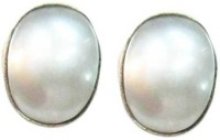 Vinayak Real Gems Pearl Silver Stud Earring