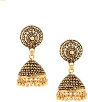 Tsquare Antique Texture Alloy Jhumki Earring