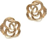 ZeroKaata Golden Rose Studs Alloy Dangle Earring