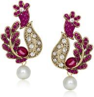 Meenaz Colour Stone Design  K Cubic Zirconia Alloy Chandelier Earring