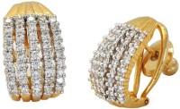 Styylo Fashion Diva Style Cubic Zirconia Brass Hoop Earring