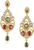 VK Jewels Rhodium Plated Brass Drop Earring