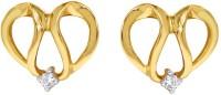 D'damas Spring Sparkle 18K Yellow Gold Plated 18 K Diamond Gold Stud Earring