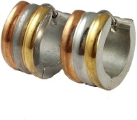 Ammvi Creations 316l Tri-Tone For Men Stainless Steel Huggie Earring