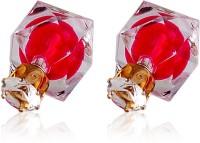 Crunchy Fashion Crystal Rosy Dual Sided Alloy Stud Earring