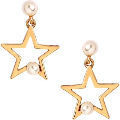 20Dresses Look For A Star Gold Metal Drop Earring