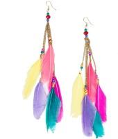 Chumbak Happy Hippie Earring Beads Metal Drop Earring