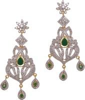Sparkle Street Emerald Chandelier  K Alloy, Stone Chandelier Earring