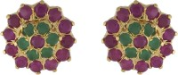 Jewel Planet Real Stone Cubic Zirconia Alloy Stud Earring