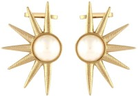 The Jewelbox Golden Sun Yellow Gold Copper Cuff Earring