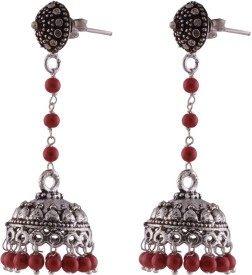 Ganapathy Gems Oxodised Silver Plated Alloy Jhumki Earring