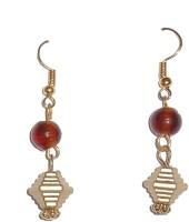 Beadworks Alloy, Glass, Copper Dangle Earring