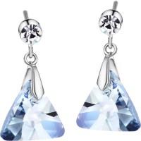 Swarovski Elements Blue Triangle Elegant Gift For Women Swarovski Crystal Metal Drop Earring