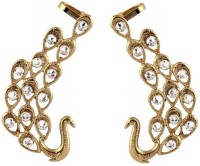 Deco Junction American Diamond Studded Antique Gold Plated Peacock Ear Cuff Pair Earring Alloy Cuff Earring