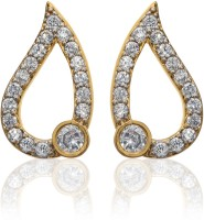 Dhruvi Creation By Zaveri Pearls Stylish Brass Stud Earring