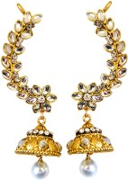 Surat Diamond Yellow Gold Pearl Metal Cuff Earring