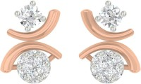TBZTheOriginal TBZ - The Original 18KT Rose Gold Evening Wear Stud Earring With 0.26cts Diamonds Rose Gold 18kt Diamond Stud Earring