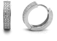 834b7784e 34% OFF on Jewel Craft BL03 Rhodium Plated Cubic Zirconia Silver Hoop  Earring