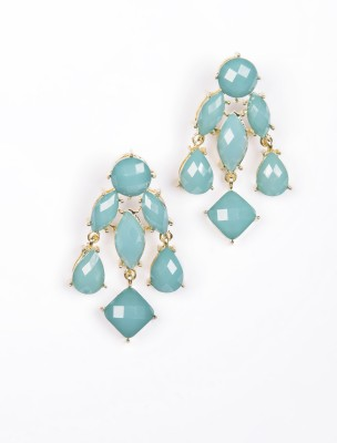 Alloy Recrof Alloy Drop Earring (Turquoise)