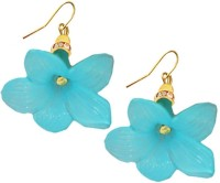 Beingwomen Elegant Blue Flower Alloy Dangle Earring