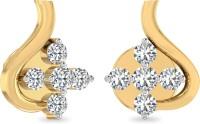 WearYourShine By PCJ The Tiarra 18 K Diamond Gold Stud Earring
