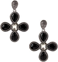 20Dresses Black By The Cross Metal Drop Earring