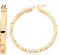 Aiza Spring Sparkle 18K Yellow Gold Plated 18 K Gold Hoop Earring