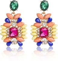 Ajara Multi Colour Style Diva Alloy Drop Earring
