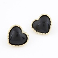 Cinderella Collection By Shining Diva Amazing Black & Golden Alloy Stud Earring