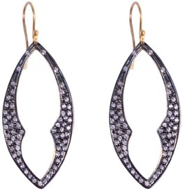 Jewels Mountain Gold Plated Sterling Silver Dangle Earring