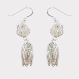 Verysilver Filigree Floral Tulip Silver Dangle Earring