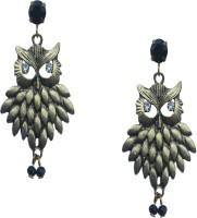 Sankisho Owl With White Eye Ear Metal, Alloy, Glass Drop Earring
