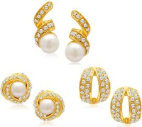 Sukkhi Divine Set Of 3 Combo 18K Yellow Gold Plated Alloy Earring Set