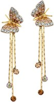 Swarovski Elements Austria Elegant Butterfly Gift For Women Swarovski Crystal Metal Drop Earring