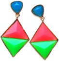 Maayra Maayra Multicolored College Hanging Earrings Alloy Drop Earring
