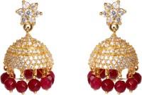 Abhijewels American Diamond Gold Plated Alloy Jhumki Earring