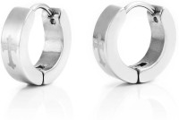 Vaishnavi Cross Steel Stainless Steel Huggie Earring