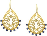 Pearls Cart Ad Stone Studded Peacock Theme Style Alloy Drop Earring - ERGEDKRQXCGHDGCZ