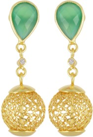 Jewel Cartel Onyx Drop & Dangle Onyx Silver Dangle Earring