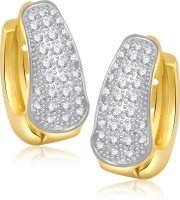VK Jewels Glam And Glow 18K Yellow Gold Plated Cubic Zirconia Alloy Huggie Earring