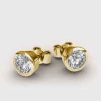 Aiza 18K Yellow Gold Plated 18 K Diamond Gold Stud Earring - ERGEYUXWCFVHGGRK