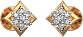I Love Diamonds Twinkly Trapezoid Earrings 18 K Diamond Yellow Gold Stud Earring