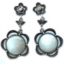Maayra Maayra White Office Hanging Earrings Alloy Drop Earring