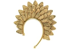 Alankruthi Leaf Gold Copper Cuff Earring