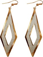 Tera Multisales Burfi Shape Gold Look Metal Dangle Earring