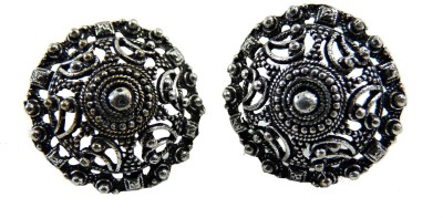 Alloy Cultural Fusion Oxidised Silver Look Alloy Stud Earring
