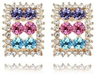 Crunchy Fashion All The Glitter Rose Gold Plated Crystal Alloy Stud Earring