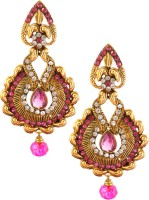Rich Lady Yellow Gold Alloy Drop Earring