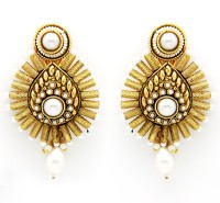 Ada Jewel Irisa Rhodium Plated Copper Drop Earring